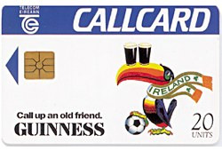 Guinness Toucan World Cup Card